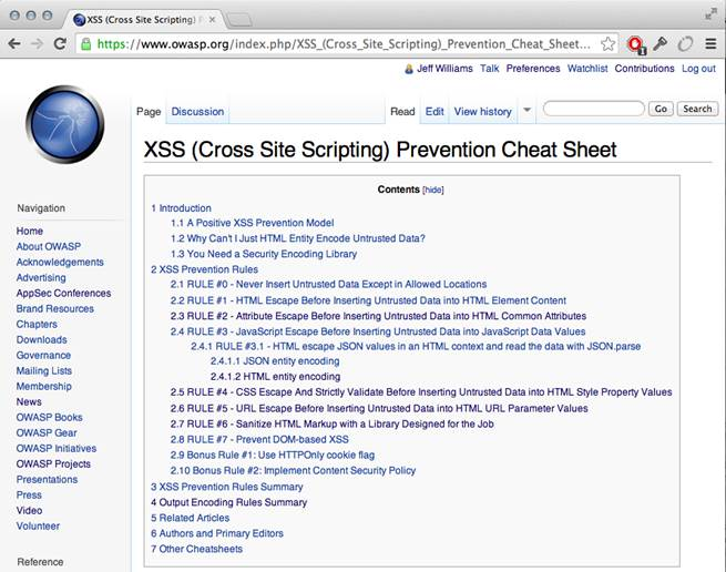 XSS_Prevention_Rules_Summary_OWASP_XSS_Cheat_Sheet_by_Jeff_Williams