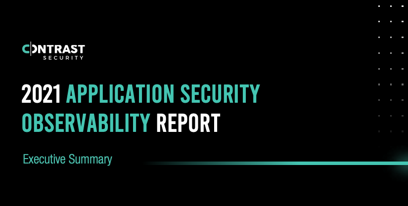 2021 application observability report 2021 - Executive Summary - Cover Graphic