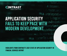 APPLICATION SECURITY FAILS TO KEEP PACE WITH MODERN DEVELOPMENT Infographic cover