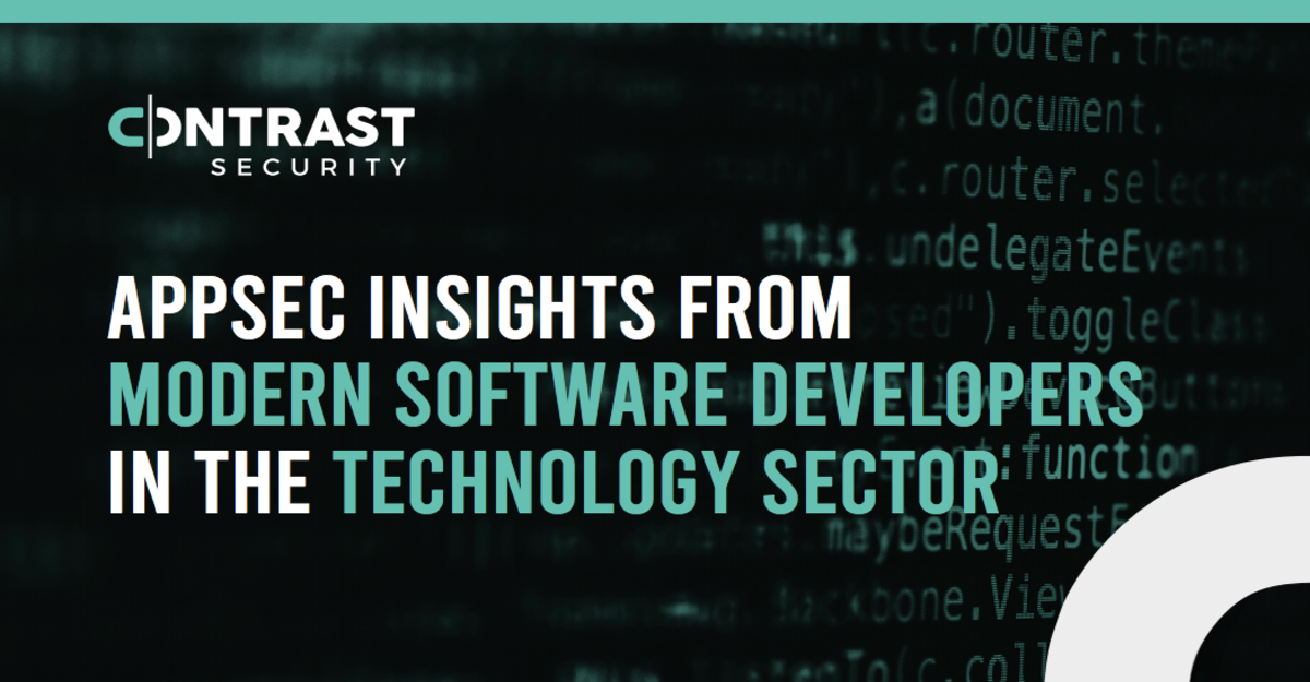 AppSec Insights from Modern Software Developers in the Technology Sector