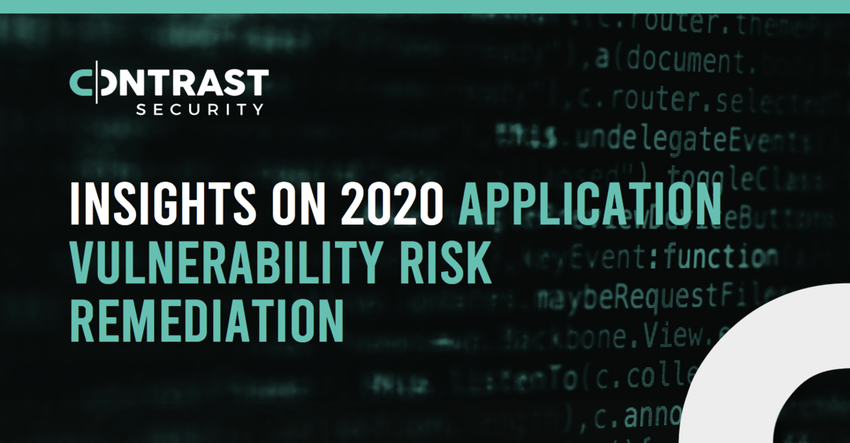Insights On 2020 Application Vulnerability Risk Remediation