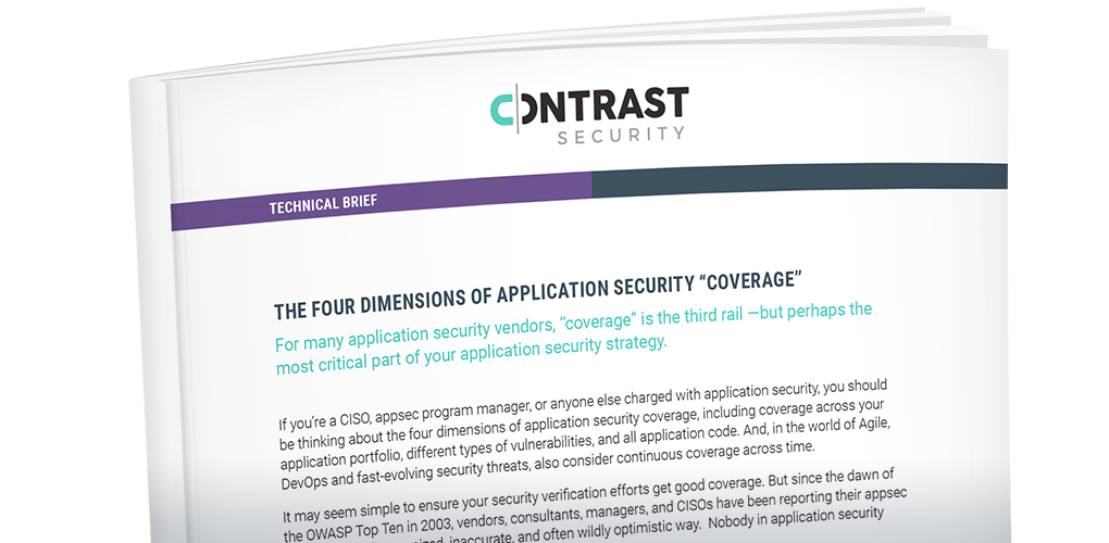 The Four Critical Dimensions of Application Security