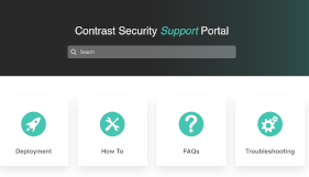 Contrast Security Support Portal